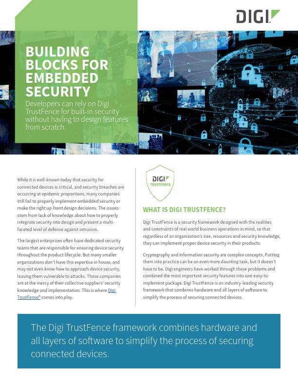Building Blocks for Embedded Security