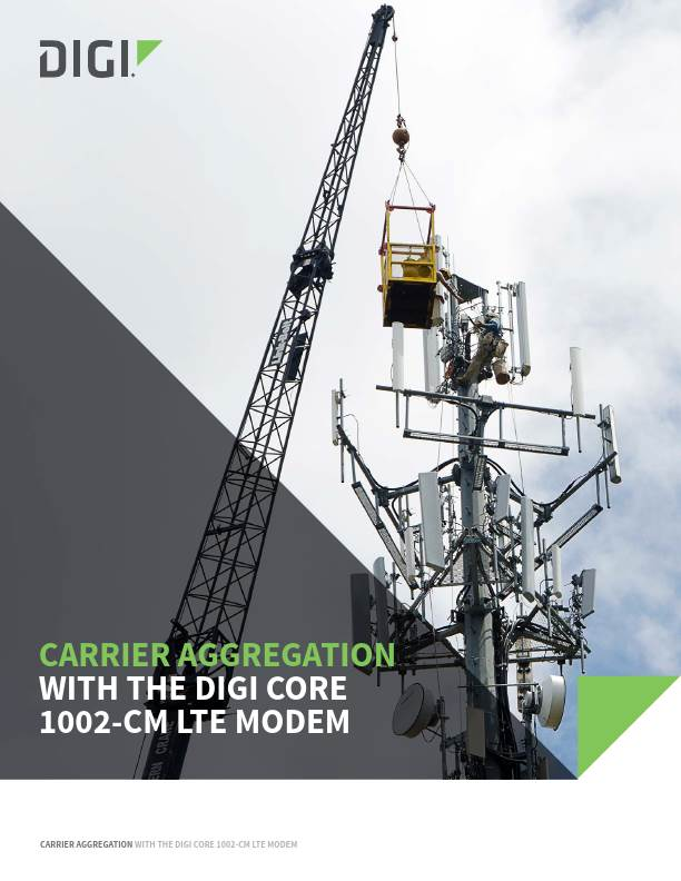 Carrier Aggregation with the Digi CORE 1002-CM LTE Modem
