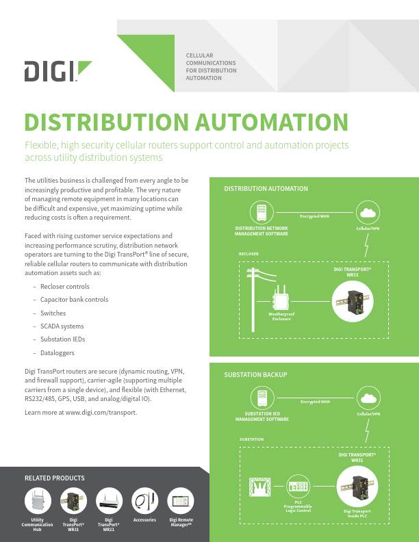 Cellular Communications for Distribution Automation