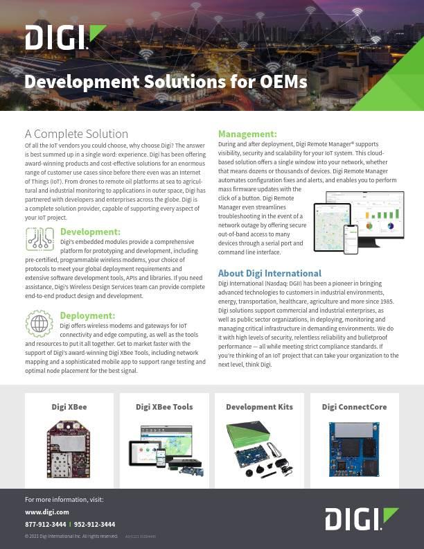 Development Solutions for OEMs