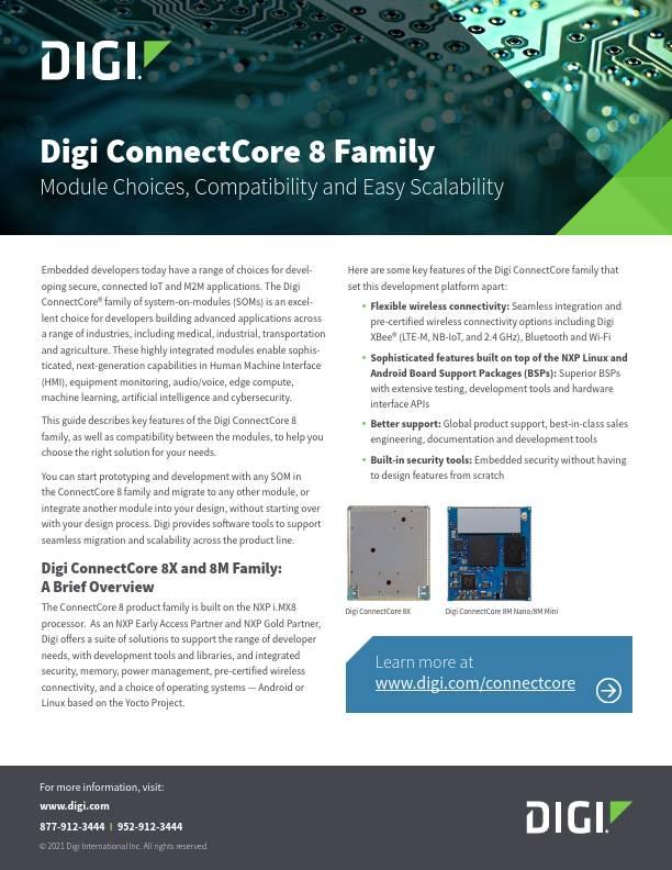 Digi ConnectCore 8 Family