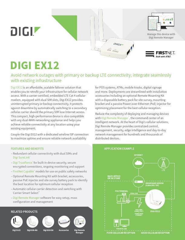 Digi EX12 Datasheet