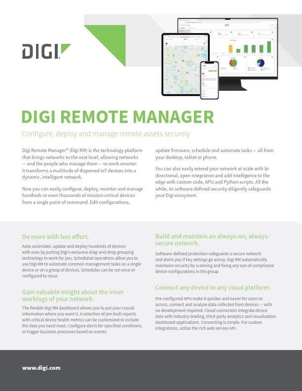 Digi Remote Manager datasheet