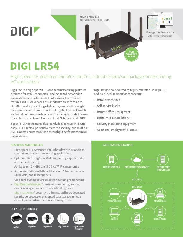 Digi LR54 datasheet