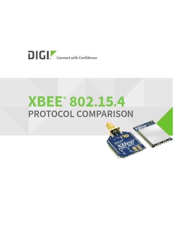 Digi XBee 802.15.4 Protocol Comparison cover page