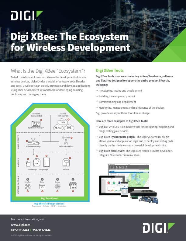 Digi XBee: The Ecosystem for Wireless Development