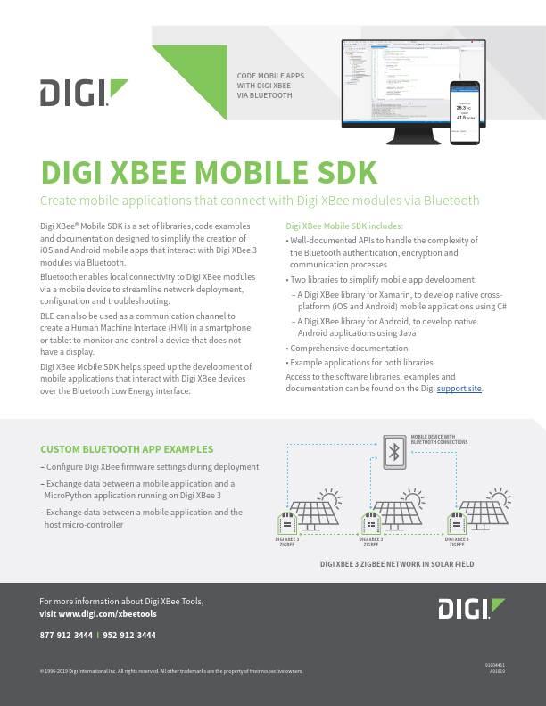 Digi XBee Mobile SDK Datasheet