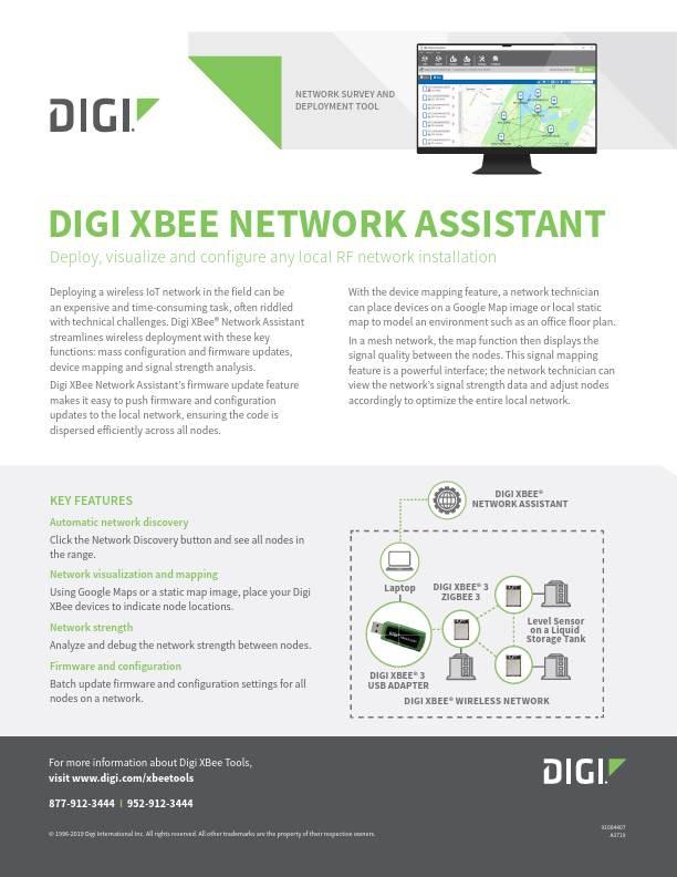Digi XBee Network Assistant Datasheet