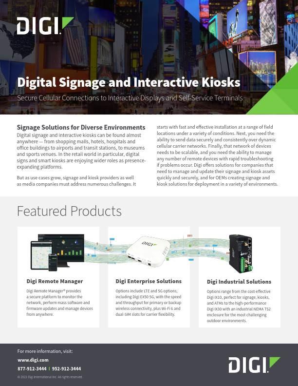 Digital Signage & Interactive Kiosks