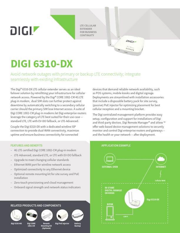 Digi 6310-DX Datasheet