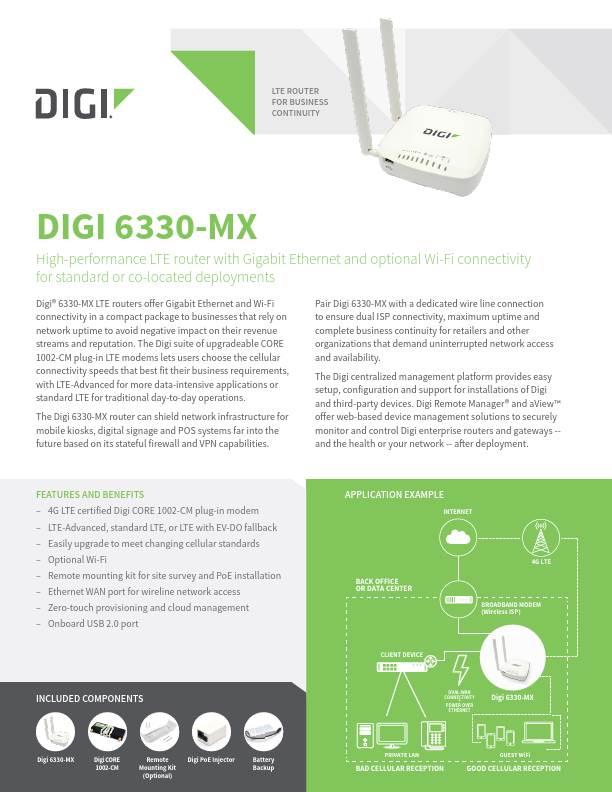 Digi 6330-MX Datasheet