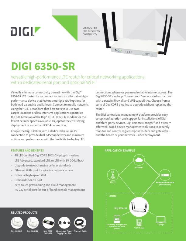 Digi 6350-SR Datasheet