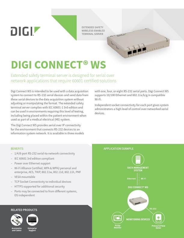 Digi Connect WS Datasheet