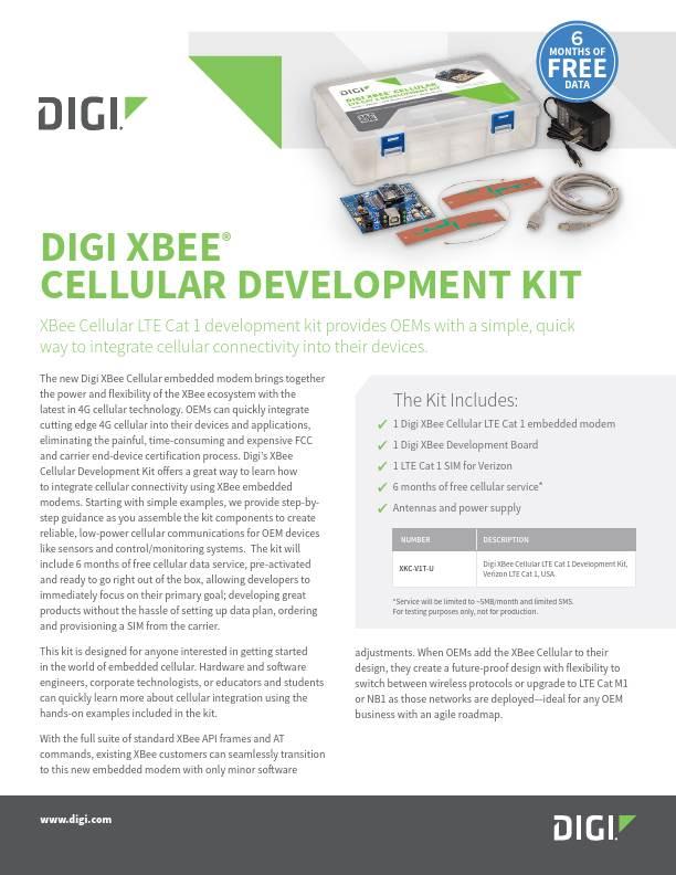 Digi XBee Cellular Development Kit Datasheet