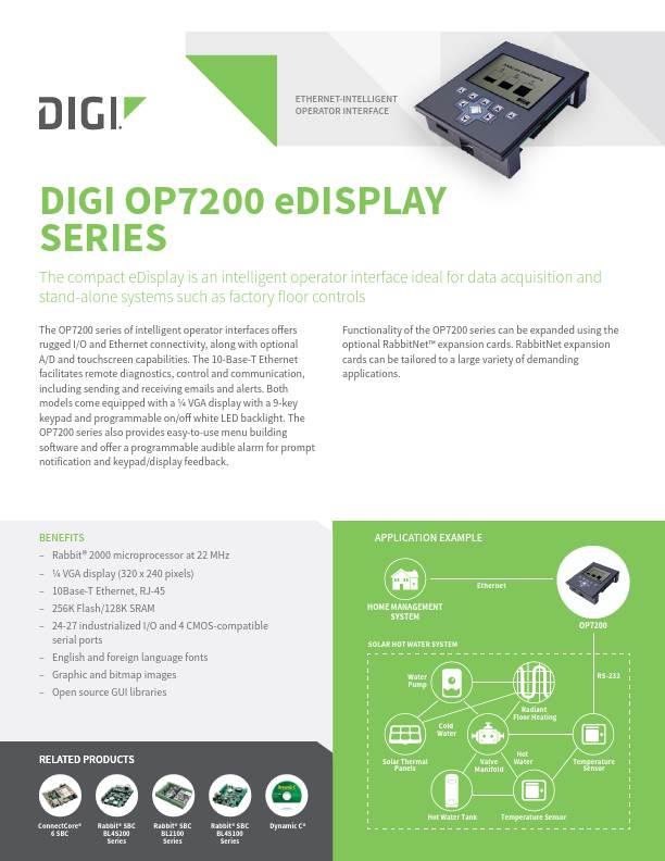 OP7200 eDisplay Series Datasheet