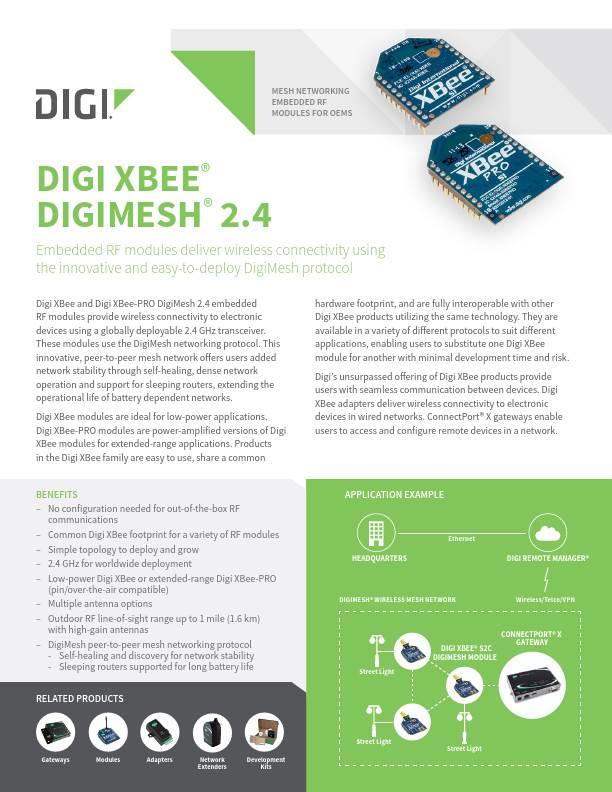 XBee DigiMesh 2.4 Legacy Datasheet