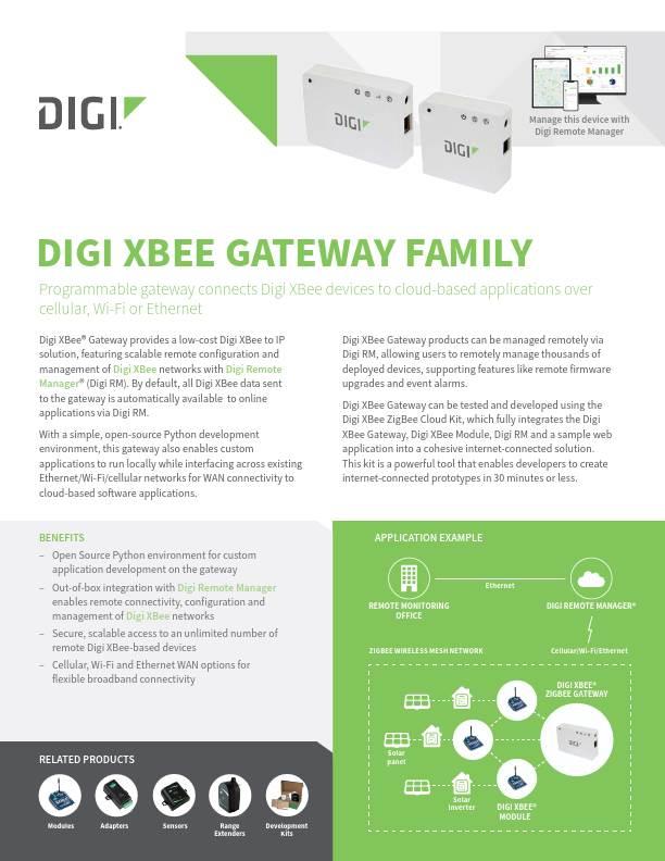 Digi XBee Gateway Family Datasheet
