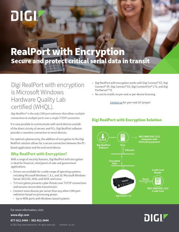Patented encryption feature of RealPort