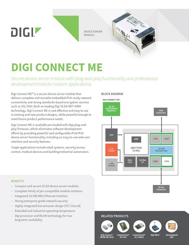 Digi Connect ME Datasheet