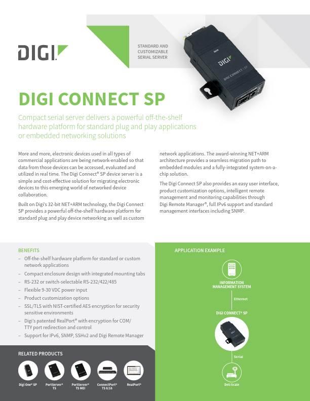 Digi Connect SP datasheet