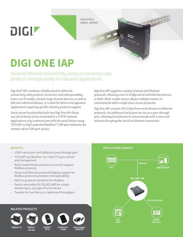 Digi One IAP Datasheet