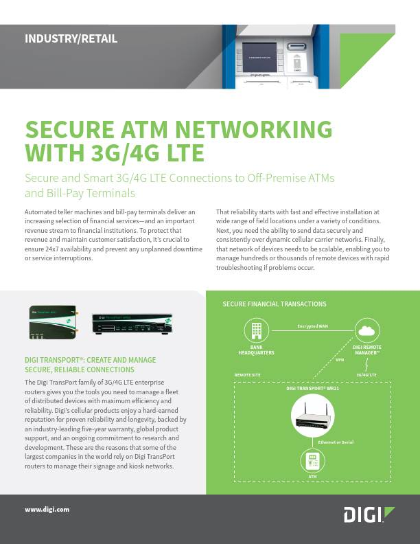 Secure ATM Networking With 3G/4G LTE