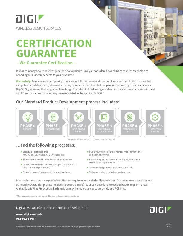 Wireless Design Services Certification Guarantee