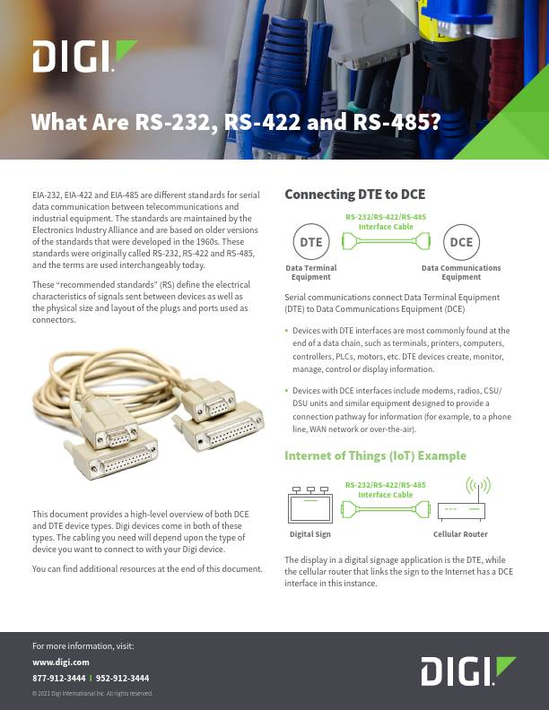 What Are RS-232, RS-422 and RS-485?