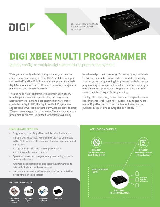 Digi XBee Multi Programmer Datasheet