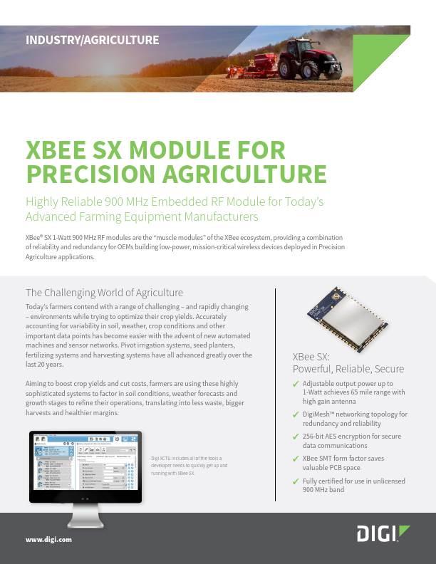 Digi XBee SX Module for Precision Agriculture