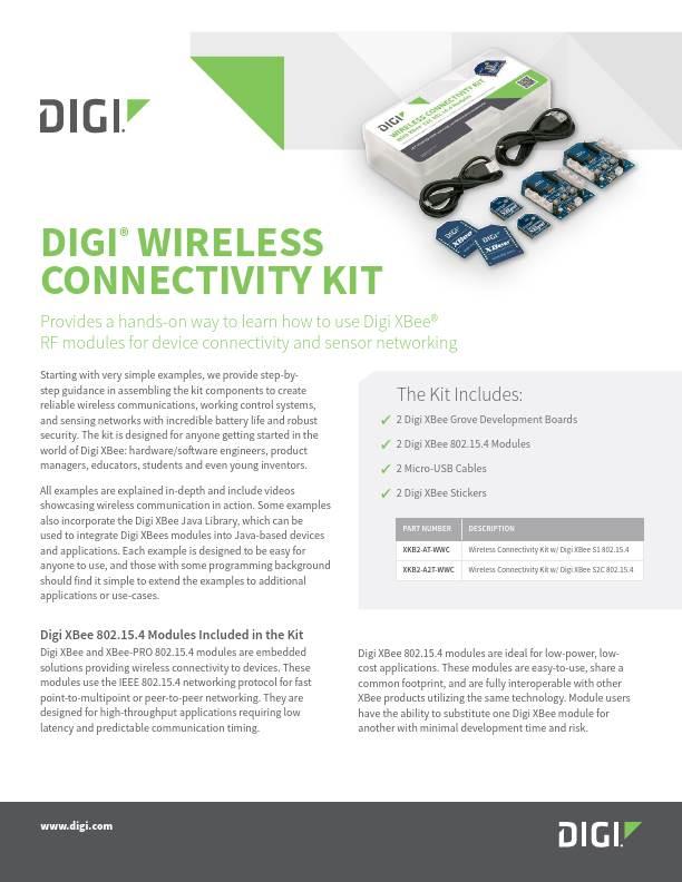 Digi Wireless Connectivity Kit Datasheet